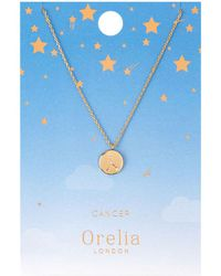 Orelia - Cancer Constellation Necklace - Lyst