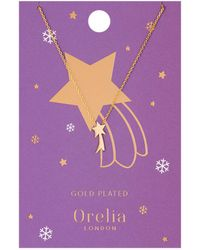 Orelia - Shooting Star Charm Necklace - Lyst