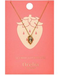 Orelia - Strawberry Necklace - Lyst