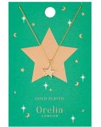 Orelia | Chunky Star Charm Necklace | Lyst