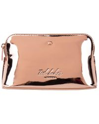 cbe27d765 Ted Baker Lindsay Mirrored Makeup Bag in Metallic - Lyst