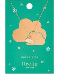 Orelia - Cloud Charm Necklace - Lyst