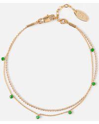 Orelia - Stone & Ball Chain Bracelet 2 Row - Lyst