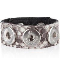 Bali Clicks - Leren Bali Click Armband - Lyst