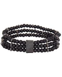 Icon Brand - Triple Bead Bracelet - Lyst