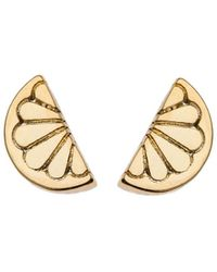 Orelia - Mini Lemon Stud Earrings - Lyst