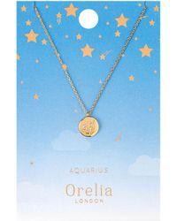 Orelia - Aquarius Constellation Necklace - Lyst