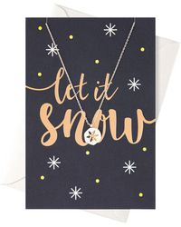 Orelia | Let It Snow Giftcard | Lyst
