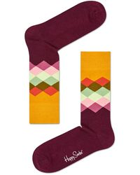 Happy Socks - Socks Faded Diamond - Lyst