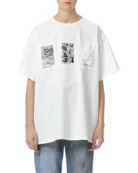 MM6 by Maison Martin Margiela - Scribble Patched Short Sleeve T-shirt - Lyst