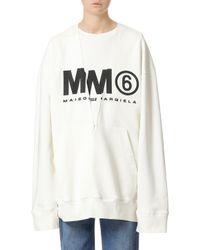 MM6 by Maison Martin Margiela - Mm6/ldn Transformer Sweatshirt - Lyst