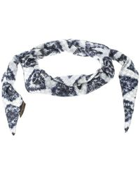Louis Vuitton - Ikat Printed Silk Diamond Scarf - Lyst