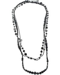 Chanel - Cc Bead Multi Layered Long Necklace / Belt - Lyst