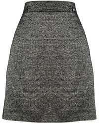 Chanel - Textured Metallic Skirt L - Lyst