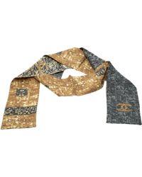 Chanel - Mosaic And Cc Logo Print Silk Bandeau - Lyst