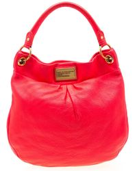 Marc By Marc Jacobs - Neon Orange/pink Leather Classic Q Hillier Hobo - Lyst