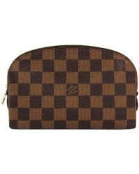 d747d4f103e Lyst - Louis Vuitton Damier Ebene Canvas Truth Toiletry 25 in Brown