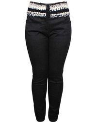 Chanel - Denim Waist Detail Jeans M - Lyst