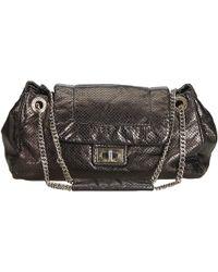 810744ca73d8 Chanel - Black Perforated Drill Accordion Flap Shoulder Bag - Lyst