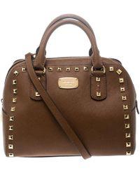 bdf2527b5f48 MICHAEL Michael Kors - Leather Small Studded Sandrine Top Handle Bag - Lyst