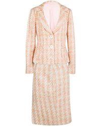 Michael Kors - Pink Tweed Sequin Embellished Skirt Suit L - Lyst