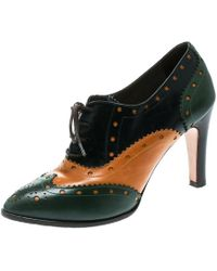fb1ffa05e3a Gucci Iowa Queercore Snake Block-heel Buckle Leather Brogue Booties ...