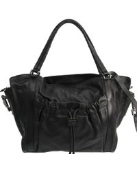 Burberry - Leather Satchel Bag - Lyst