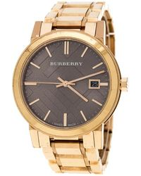Burberry - Beige Rose Plated Steel The City Bu9005 Women's Wristwatch 38 Mm - Lyst