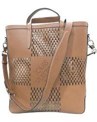 Louis Vuitton - Cognac Damier Nomade Leather North South Cabas Tote - Lyst a438da41f4d28