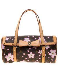 c6646b793af61 Louis Vuitton - Monogram Canvas Cherry Blossom Papillon Bowling Bag - Lyst