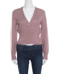 Louis Vuitton - Dusty Mohair Rib Knit Tapered Waist Sweater Xs - Lyst