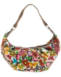 Lancel - Printed Fabric Shoulder Bag - Lyst