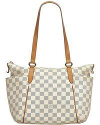 943ae7087ac7 Lyst - Louis Vuitton Authentic Damier Azur Canvas Saleya Pm Shopper ...