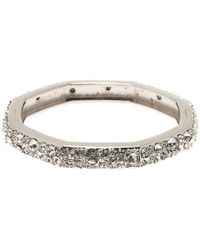 Ferragamo - Narrow Tone Crystal Bangle - Lyst