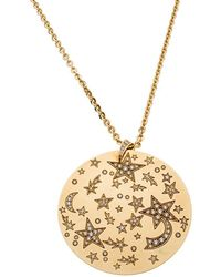 Chanel - Comete Star Diamond 18k Yellow Gold Large Pendant Necklace - Lyst