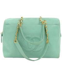 Chanel - Light Caviar Large Cc Shopping Tote - Lyst
