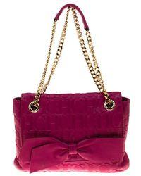 Carolina Herrera - Hot Monogram Leather Audrey Shoulder Bag - Lyst