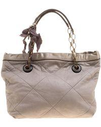 Lanvin - Leather Amalia Cabas Tote - Lyst