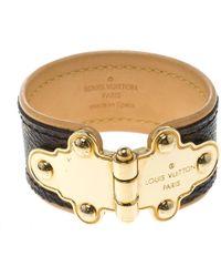 Louis Vuitton - Save It Monogram Canvas Wide Cuff Bracelet 16cm - Lyst