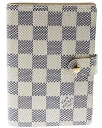 Louis Vuitton - Damier Azur Canvas Agenda Cover - Lyst