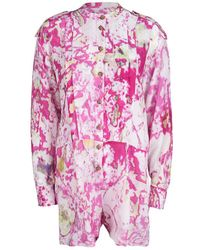 Vivienne Westwood - Anglomania Watercolor Print Long Sleeve Playsuit S - Lyst