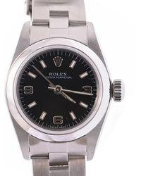 Rolex - Stainless Steel Oyster Perpetual Women's Wristwatch 24mm - Lyst