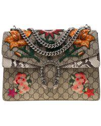799bd1699060 Gucci - Multicolor Supreme Canvas Medium Embroidered Dionysus Shoulder Bag  - Lyst