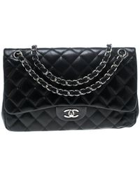 27275b41bd9f Chanel - Quilted Leather Jumbo Classic Double Flap Bag - Lyst