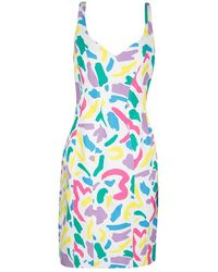 Moschino - Couture Piquet Matisse Print Textured Cotton Sleeveless Dress L - Lyst