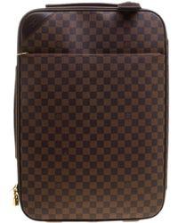 a2a66539f855 Louis Vuitton - Damier Ebene Canvas Pegase Light 55 Luggage - Lyst