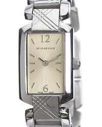 Burberry - Silver Stainless Steel Signature Bu4212 Women's Wristwatch 18mm - Lyst