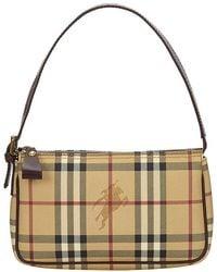 Burberry - Haymarket Check Coated Canvas Shoulder Bag - Lyst