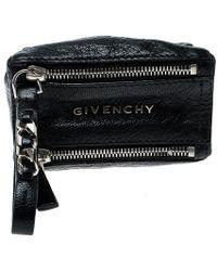 Givenchy Black Leather Pandora Coin Purse