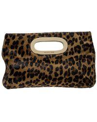 475982e6c5a2 MICHAEL Michael Kors - Leopard Print Calfhair Clutch - Lyst